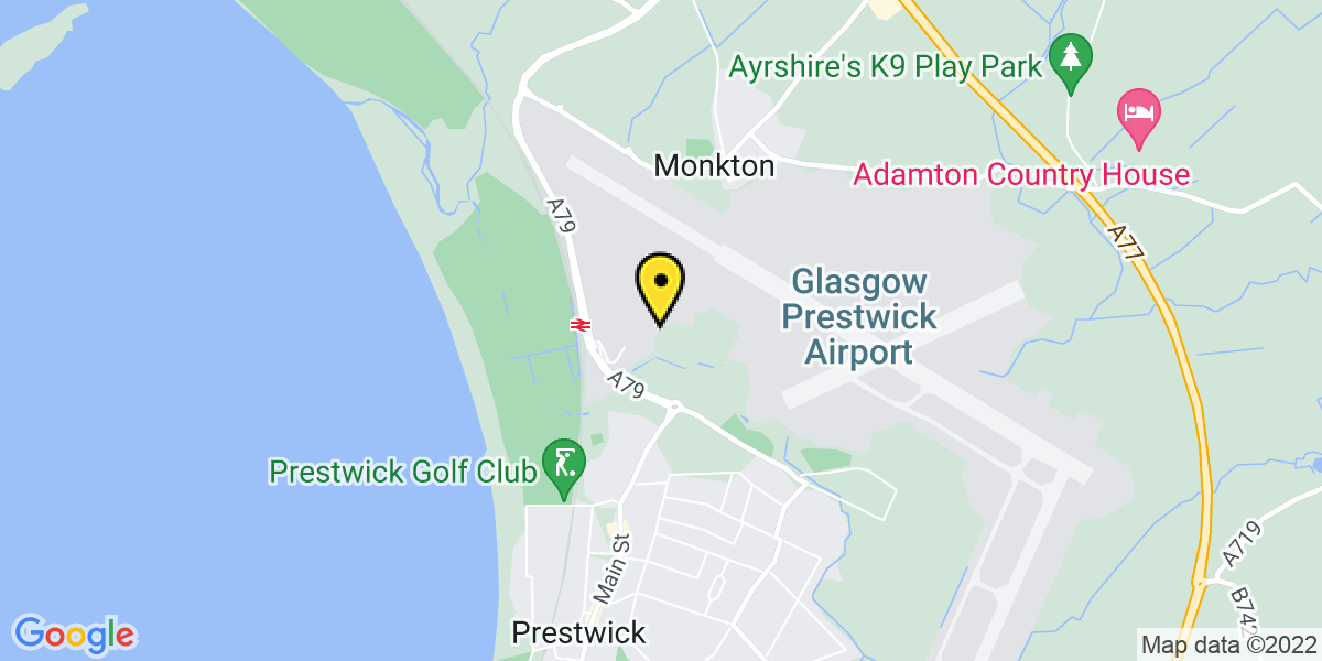 Map of Glasgow Prestwick Mid and Long Stay