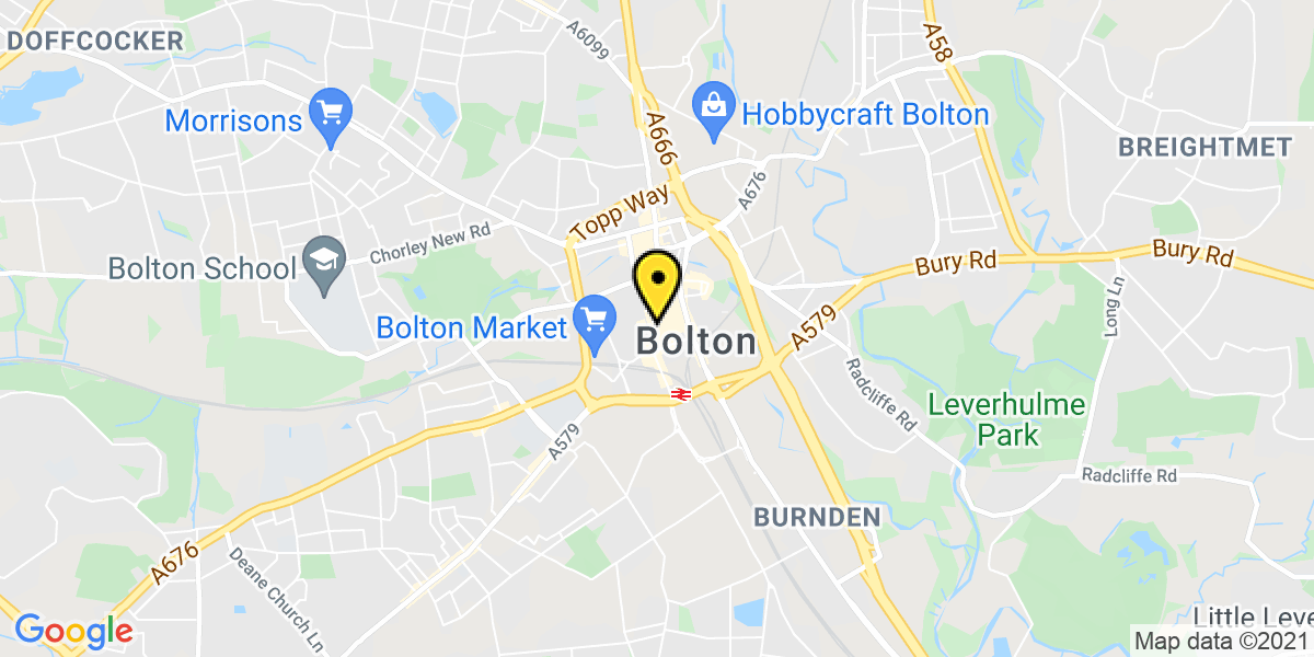 Map of Bolton Back Cheapside