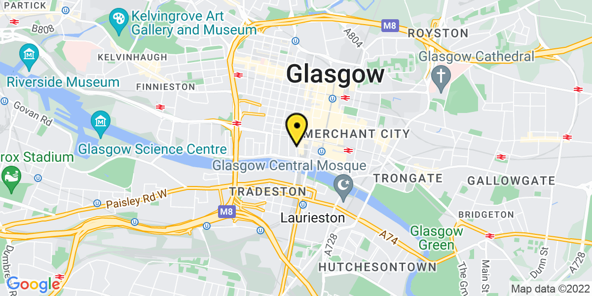 Map of Glasgow Central Station