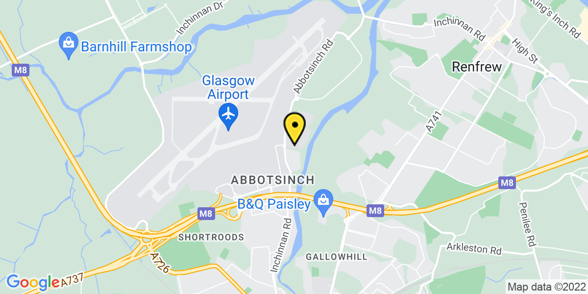 Map of Glasgow Airport Long Stay We Park