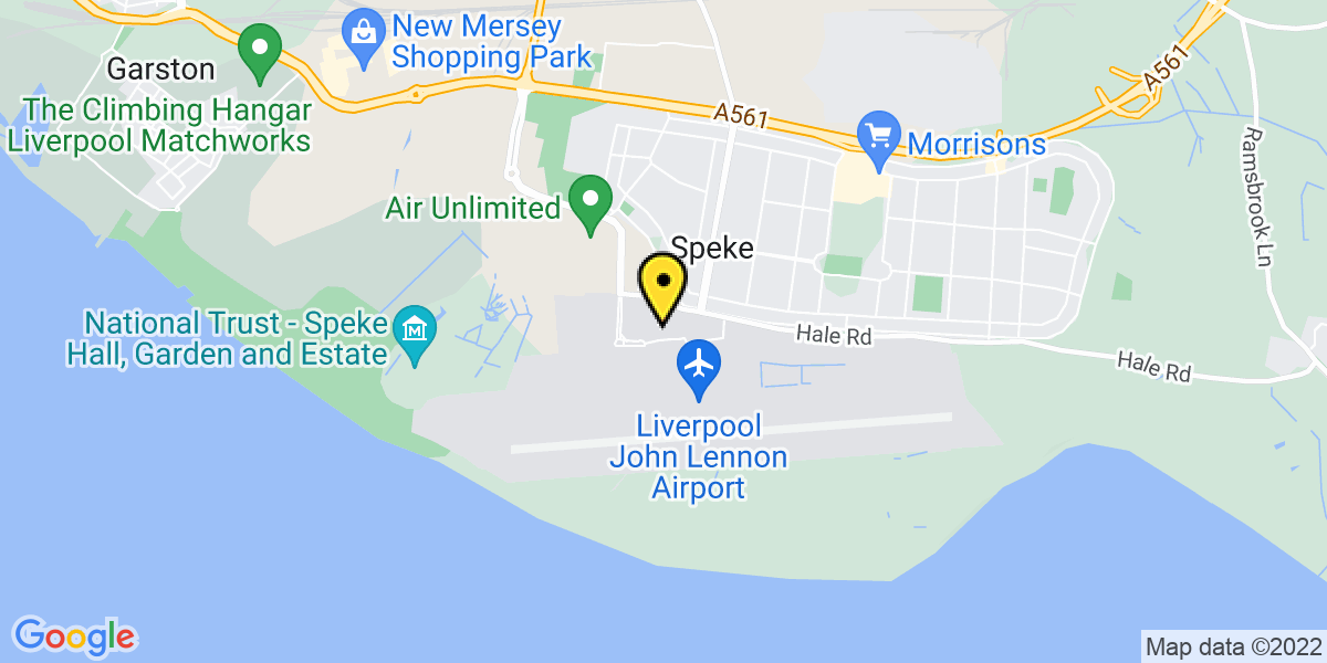 Map of Liverpool Airport Multi Storey