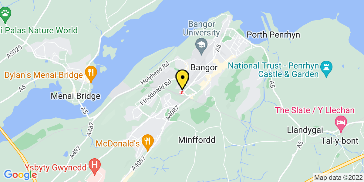 Map of Bangor Station (TFW)
