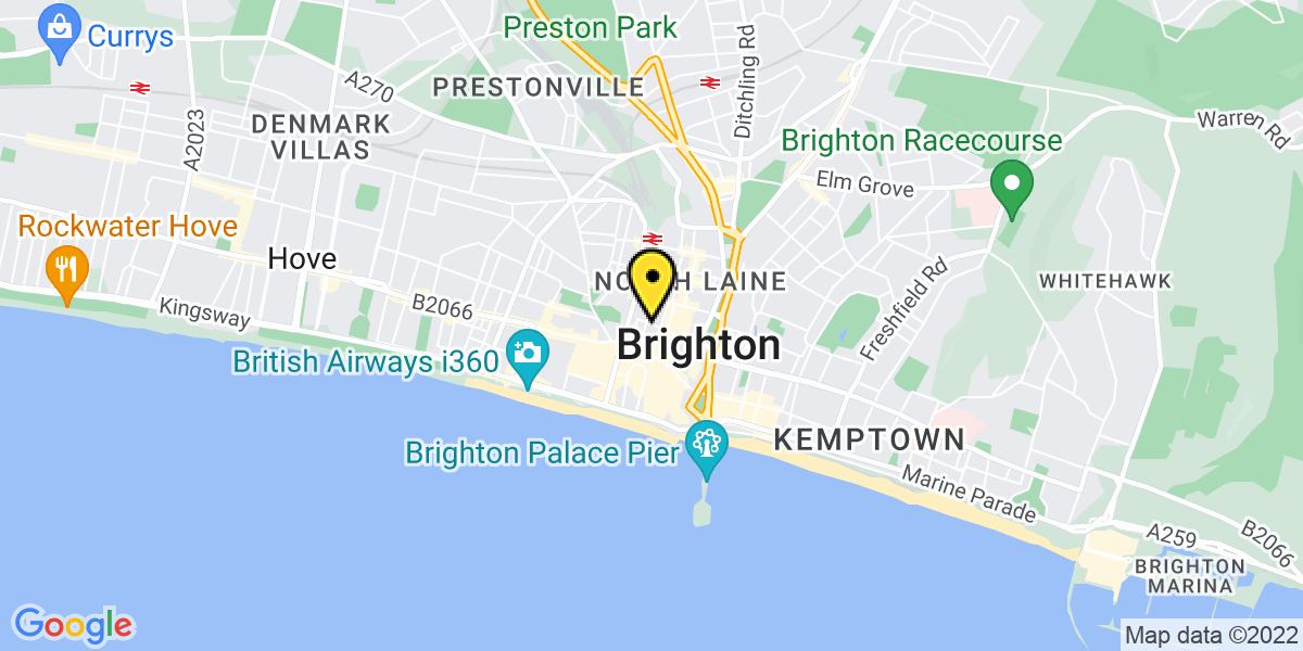 Map of Brighton Theatre