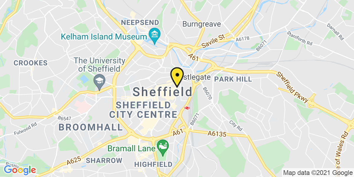 Map of Sheffield Arundel Gate