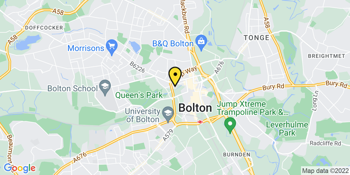 Map of Bolton St Helena Road