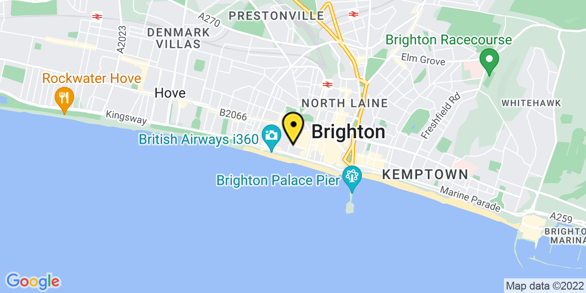 Map of Brighton Centre Russell Road
