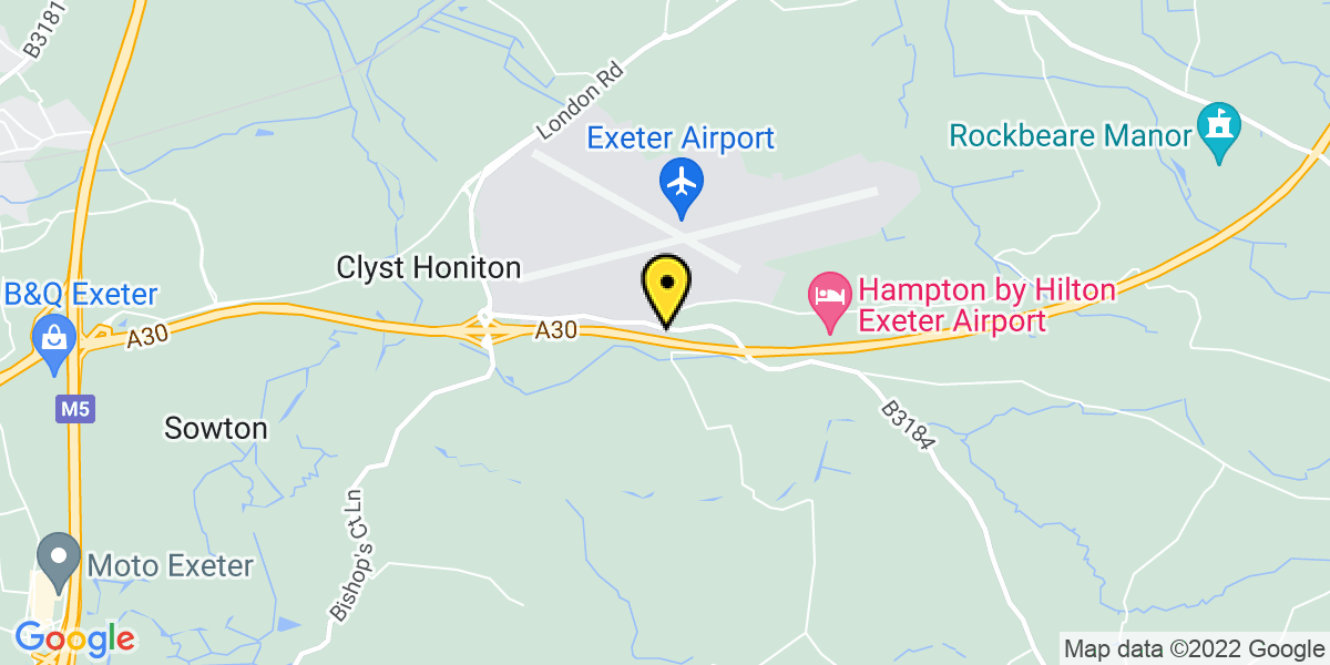 Map of Exeter Airport Long Stay 3