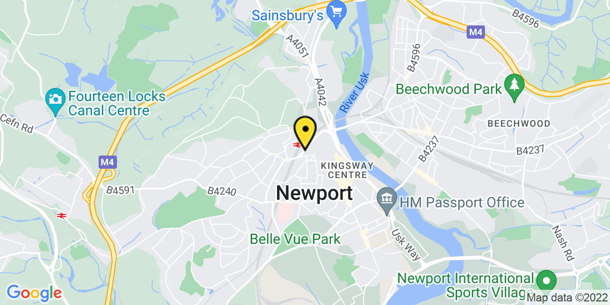 Map of Newport Station Approach