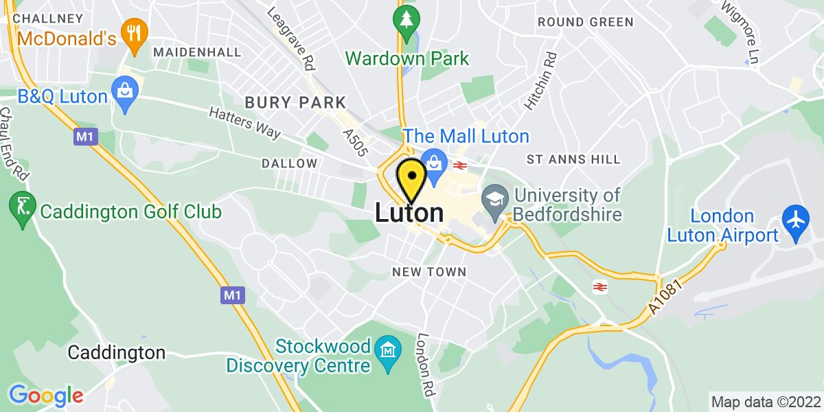 Map of Luton Old Court House