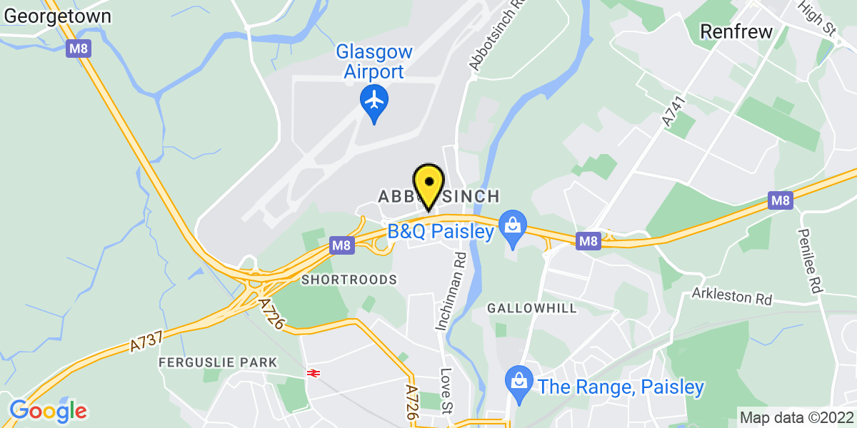 Map of Glasgow Airport Holiday Inn Express Car Park