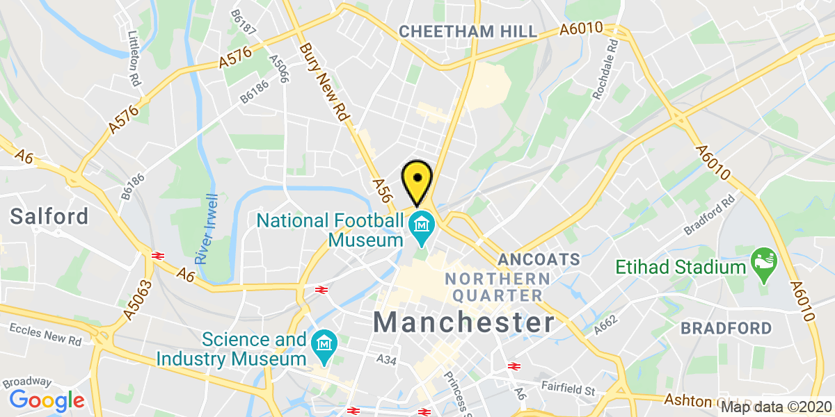 Map of Manchester Arena