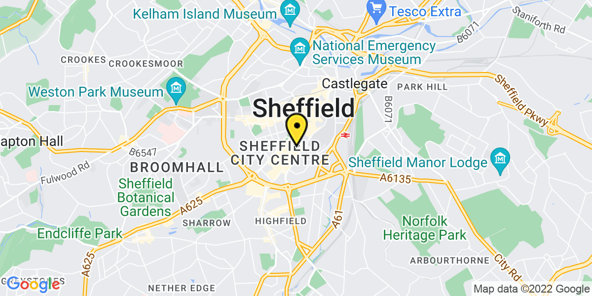 Map of Sheffield Furnival Gate
