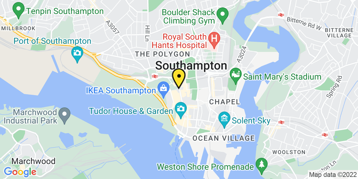 Map of Southampton Portland Terrace