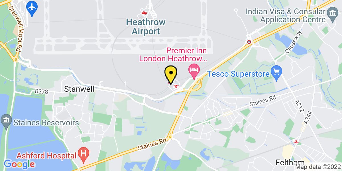Map of Heathrow Meet and Greet T4
