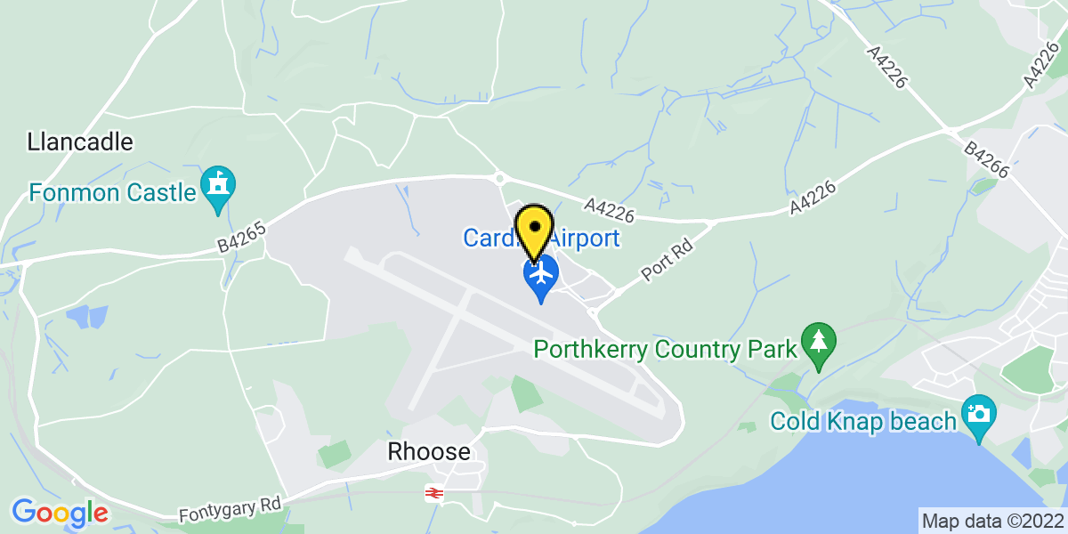 Map of Cardiff Airport