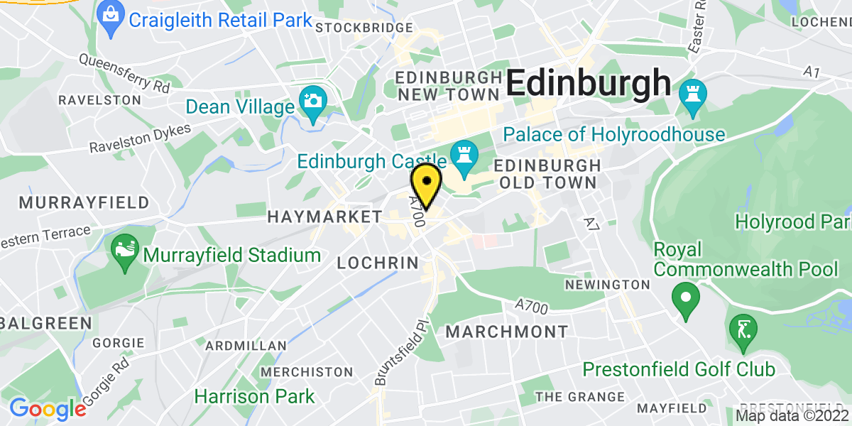 Map of Edinburgh Grindlay Street Court