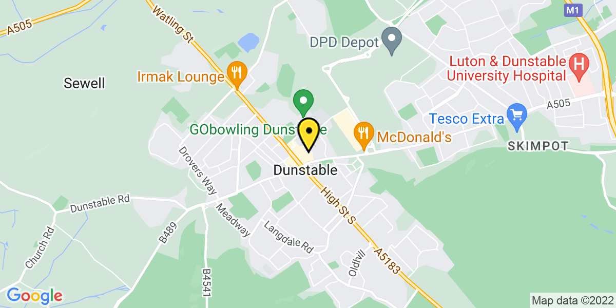 Map of Dunstable The Quadrant